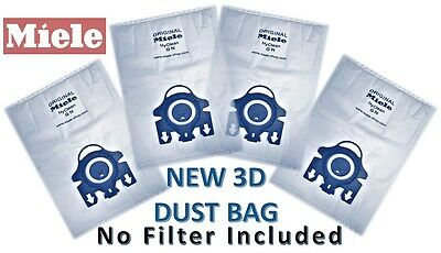 Genuine MIELE GN HyClean Vacuum Cleaner DUST BAG x 4bags NO FILTER included