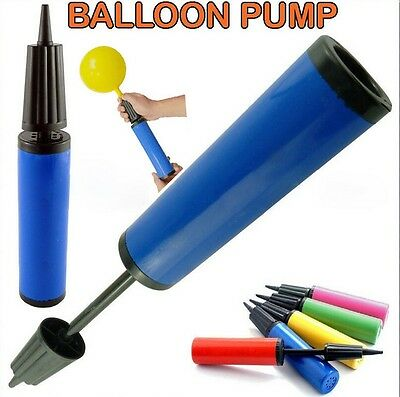New Birthday Party Celebration Manual Dual Double Action Hand Balloon Air Pump
