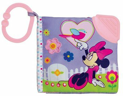 Toy Baby Toddler Play Soft Book Pages Minnie Mouse Infant Teether On-The-Go Clip