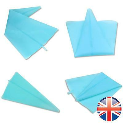 *UK Seller* Silicone Icing Cream Reusable Piping Bag Pastry Decorating