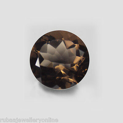 4mm / 5mm / 6mm ROUND FACETED GENUINE SMOKY / SMOKEY QUARTZ LOOSE GEMSTONE