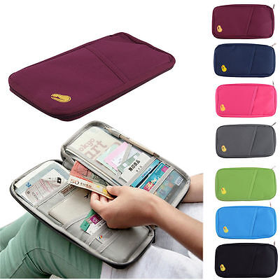 Prevalent Travel Fabric Bank Wallet Passport Holder Organizer Case Wallet Pouch