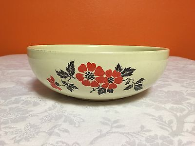 "Hall China 9"" Bowl Red Poppy"