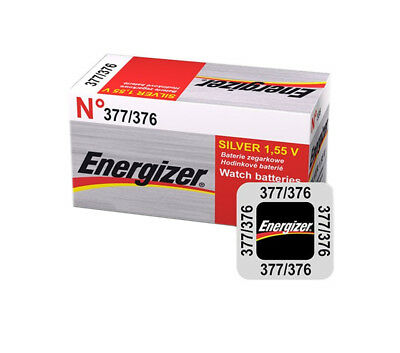 5 x 10 x 20 Energizer 377 376 Battery 1.55v Watch Batteries Silver Oxide AG4 G4