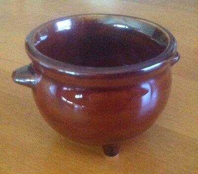 Brown, 3 Legged Pot By Hall, Made In The U.S.A