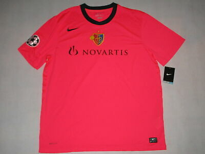 Nike FC BASEL Trikot Jersey Camiseta Maglia Maillot NEON PINK 11/12 CL Patch XXL