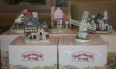 David Winter Cottages lot of 5 | Bakehouse, Windmill, Wharf, Suffolk, Lawnside