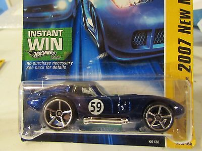 Hot Wheels Shelby Cobra Daytona Coupe 2007 New Models Blue