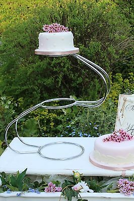 3 Tier Silver Swan Wedding Cake Stand for HIRE Essex