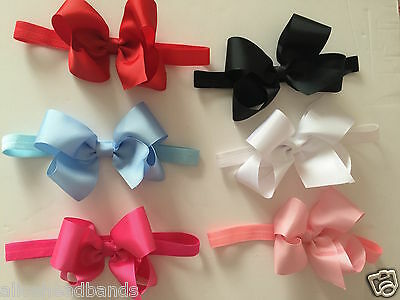 Big Bow Baby Girls Headband Soft Elastic Band Variety Hair Accessorie 6Inch+ Lot