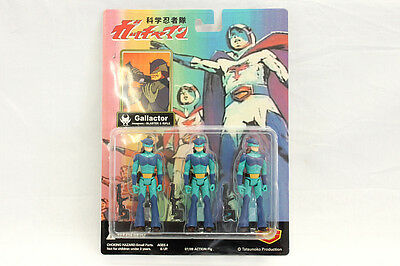 Gatchaman figure Gallactorgroupmembers 3persons Enemy Tatsunokopro Japan Anime