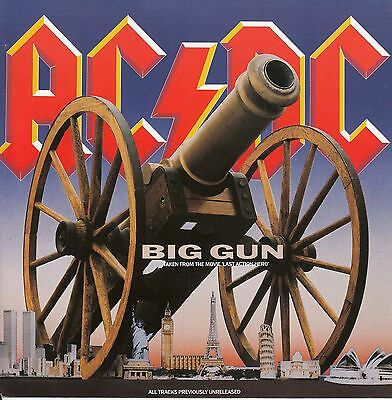 "AC/DC ACDC  Big Gun 7"" 45 PICTURE SLEEVE ONLY (NO RECORD) BRAND NEW MINT RARE!!!"