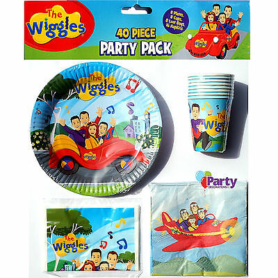 New Wiggles Kids Birthday Party Pack Supplies Plates Cups Decorations