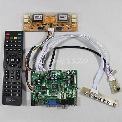 HDMI VGA AV Audio USB FPV LCD driver board for 15Inch CCFL 1024x768 LCD Panel