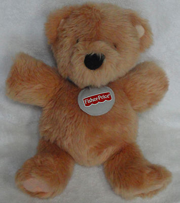 Fisher Price Plush Bennett Teddy Bear Tan Brown Soft Stuffed Animal March 14th