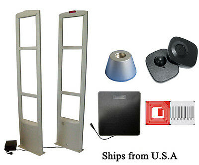 Checkpoint Compatible 8.2MHz EAS 500Tag &1000 Label Combo Security System fr USA