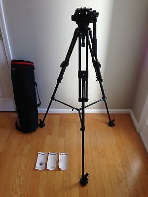 MANFROTTO 351MVB2 TRIPOD SYSTEM W 503 HDV HEAD, MBAG90PN BAG & SPREADER