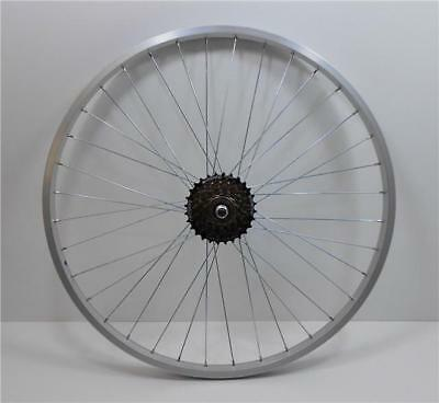"26 "" Alloy REAR Mountain Bike Wheel & 7 SPEED SHIMANO FREEWHEEL Bicycle MTB (R)"