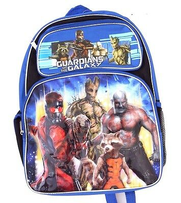 "Marvel Comics Movie Guardians of the Galaxy 16"" Large Boys Backpack School Bag"