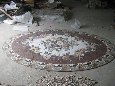 Beautiful Hand Made Large Micro Mosaic Floral Pool Flooring