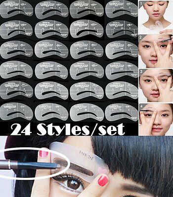 Grooming Shaping Assistant Template Eyebrow Drawing Card Brow Make-Up Stencil