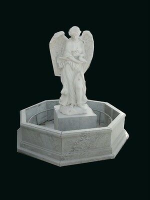 Beautiful Hand Carved Marble Angel Fountain Fnt74