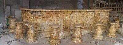 Hand Carved Marble Largetravertine Exterior Bar #1