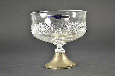 Compote Holland Crystal and Sterling Silver 835 CBZ and sword Sticker