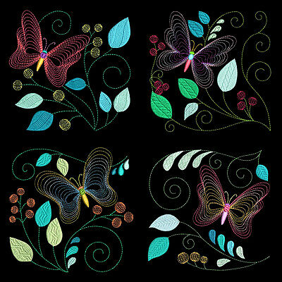 Light & Airy Flutterbys - 30 Machine Embroidery Designs (Azeb)