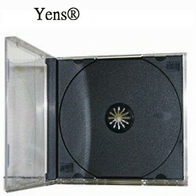Yens® 50 pcs New Black Single Standard CD DVD Jewel Case 10.2mm  50#10BCD1