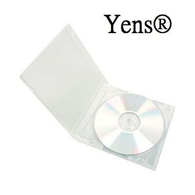 Yens® 100 pcs New Clear Single Standard CD DVD Jewel Case 10.2mm  100#10CCD1