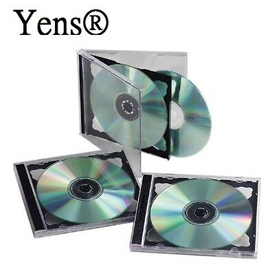 Yens® 25 pcs New Black Double Standard CD DVD Jewel Case 10.2mm  25#10BCD2