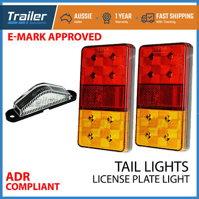 Trailer Light Kit Led Trailer Lights, 1 Number Plate Light 12V Waterproof