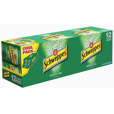 Schweppes Ginger Ale Soda 12 Pack of Cans