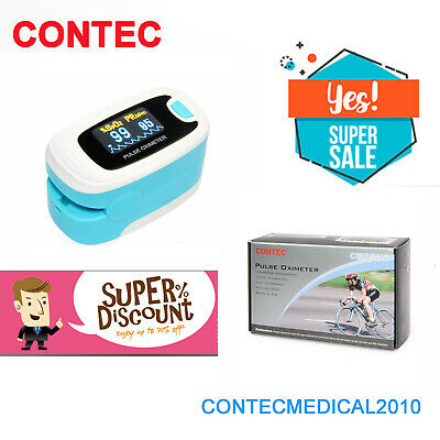 FDA LCD Pulse Rate Oximeter Spo2 BLOOD oxygen PR blue +FREE CASE BLUE CMS50N