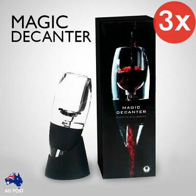 3x New Magic Decanter Essential Red Wine Aerator Sediment Filter Pouch Gift Box