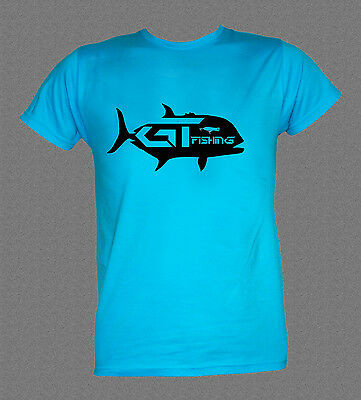 GT GIANT TREVALLY SALTWATER GAME FISHING T-shirt (all sizes,colours available)