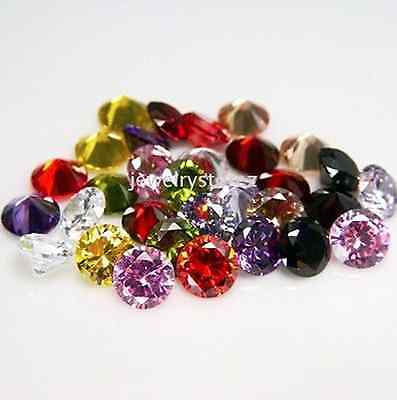 Cubic Zirconia Round AAA Multi-Color CZ Loose Stones Lot (1mm - 17mm)
