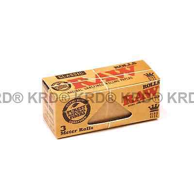 Genuine RAW Rolls Paper Classic King Size 3 Meter Rolls Natural Rolling Papers
