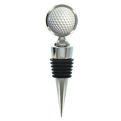 Golf Ball Design Wine Bottle Stopper golfing masters us open fan driving NEW