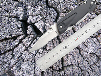 Hot Side Lock Buck 831 + Scabbard Pocket With Lights Outdoor Camping Knife ST6