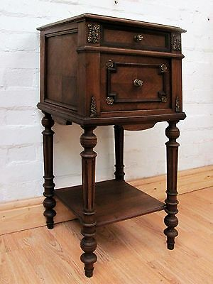 Gorgeous Antique French Marble Topped Pot Cupboard - C1900