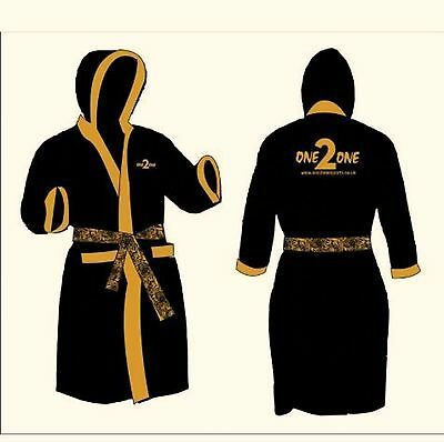 Mens Boxing Gown With ONE2ONE LOGO