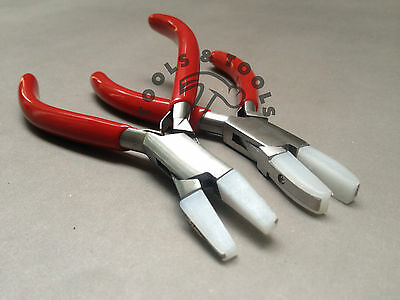 Set of Chain Nose & Flat Nose Nylon Jaw Pliers Jewelry Wires Crafts+ EXTRA JAWS