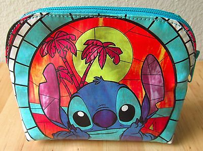 Disney Lilo & Stitch Hawaii Stained Glass Cosmetic Makeup Tote Bag 626 Loungefly