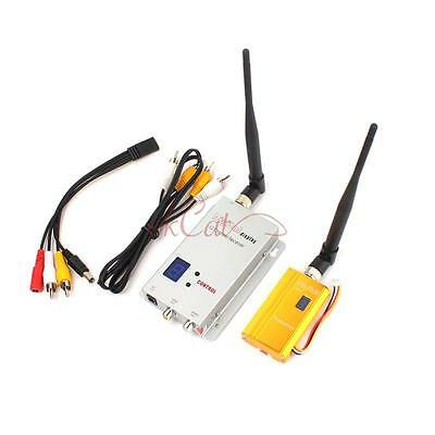 1.2G 1.5W Wireless 1500mw AV Transmitter Receiver Kit RC Model FPV Video UK OF