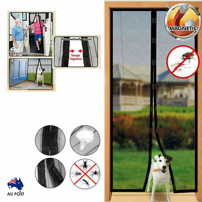 Instant Mesh Screen Door Magnetic Hands Free Bug Mosquito Fly Pet Patio Net AU
