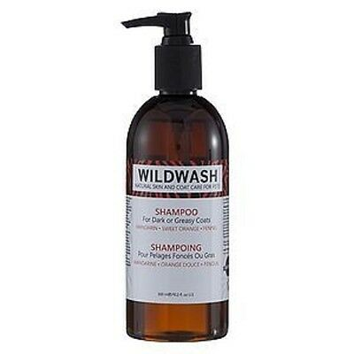 WildWash Dark & Greasy Shampoo - Puppy Dog or Cat Grooming 300ml