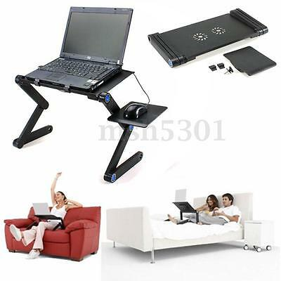 Multi Functional Red Adjustable Desk Table Stand Sofa Bed For  Laptop PC iPad