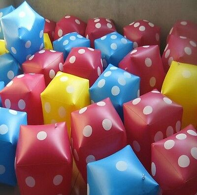 New Baby Beach Toy Party Toy Cubes Dot Square Giant Inflatable Dice N7